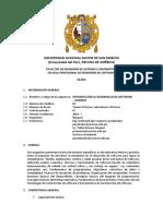 Sílabo - Introducción Al Desarrollo de Software - 2019I v3.0