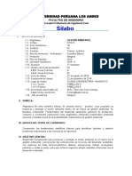 silabo gestion ambiental UPLA