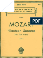 Mozart - 19 Sonatas for the Piano Schirmer