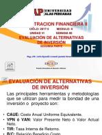 Semana 06 - Evaluación de Alternativas de Inversion - 2da. Parte