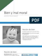 Bien y Mal Moral, Ley Moral Natural y Conciencia