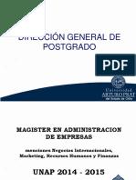 Presentacion Magister en Administracion 2014
