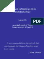 Introducere În Terapii Cognitiv Comportamentale