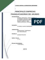 Principales Empresas Franquiciadoras Del Mundo - Trabajo-1