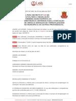 Decreto 640 2017 Indaial SC