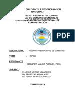 APEC PERU Trabajo de Gestion 1