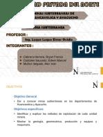 Minas Subterrraneas Huaca y Ayacu