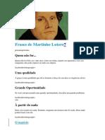 Frases de Martinho Lutero7