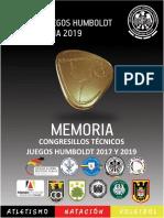 Caratula Memorias Humboldt - Actas