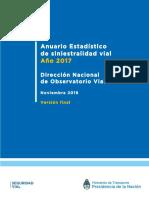 Estadísticas de Seguridad Vial (Argentina, 2017)