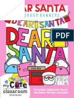 TEACH Dear Santa Banners