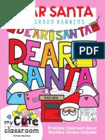 TEACH Dear Santa Banners