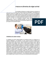 Residuos de Fármacos en Alimentos de Origen Animal