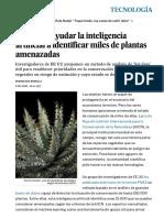 Así Puede Ayudar La Inteligencia Artificial a Identificar Miles de Plantas Amenazadas - Tecnología - EL PAÍS