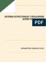 Clase 2 - Sistemas Estructurales, Regularidad