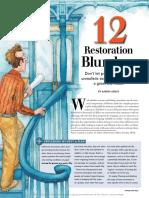 12 Restoration Blunders