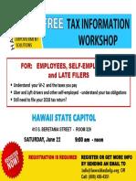 Workshop & Taxes
