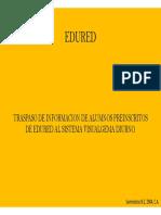 Traspaso de Preinscripcion de Edured a Visual Gema