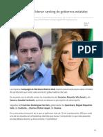 06-06-2019 Yucatán y Sonora lideran ranking de gobiernos estatales-24 horas