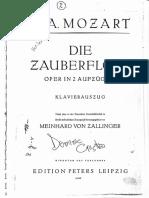 Canto-pian - Flautul Fermecat (Die Zauberflöte) - W a Mozart (1)