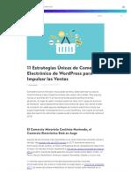11 Estrategias Únicas de Comercio Electrónico de Wordpress Para Impulsar Las Ventas