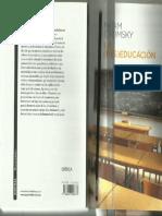 CHOMSKY La Des Educacion Chomsky PDF