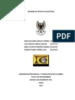 Informe de Práctica Geotecnia