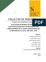 Entregable Nº 02 ECOMIN Grupo Nº 02 Evaluación Económica en Base a La Sustitución de Molinos Tradicionales Por Semiautogenas en La Planta Procesadora de La Mina Malin S.a.C en El Año 2020 2025 (2)