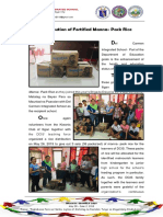 Distribution of Fortified Manna- Pack Rice