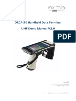 ORCA-50 Handheld Data Terminal User Manual