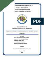 Trabajo de Gestion Estratégica de Las Operaciones - Gestión de La Capacidad de Intalaciones