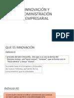 Innovación y Administración Empresarial