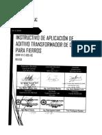Sdvp-it-c-005-Gc Aplicación de Aditivo Transformador de Oxido Para Fierros Rev. a.