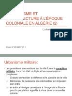 COURS 05 L Urbanisme Coloniale