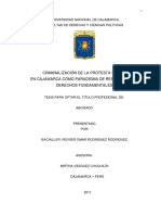 Tesis Criminalización de La Protesta Social en Cajamarca