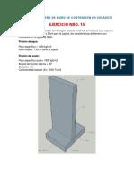 Ejercicio NRO°15 –(Analisis y diseño de muro de contencion en voladizo) ACCILIO LEANDRO,Eslym word