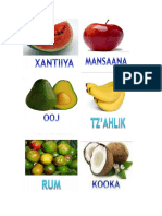 Frutas en Poqomam