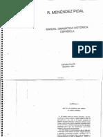 Manual de gramatica historica española (Menendez Pidal)