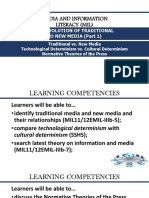 MIL 02 - The Evolution of Traditional to New Media (Part 1)- Traditional vs. New Media, Technological vs Cultural Determinism, And Normative Theories of the Press