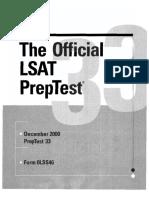 LSAC - LSAT PrepTest 33 (, LSAC).pdf