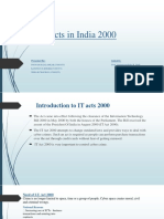 IT Acts in India 2000