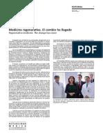 Medicina regenerativa. El cambio ha llegado