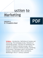 MARKETING MANAGEMENT - 1st unit - Introduction to Marketing