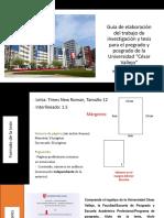 Guía de Elaboración Del Trabajo de Investigación y Tesis Para El Pregrado y Posgrado de La UCV