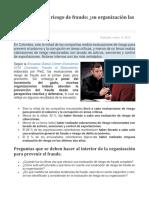 Lectura - Evaluaciones de Riesgo de Fraude