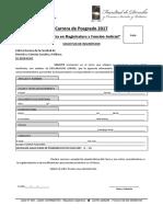 Ficha de Inscripción Magistratura