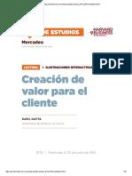 1. Creating Customer Value - Versión Español