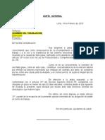 MODELO CARTA DE PREAVISO DE DESPIDO