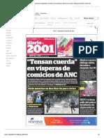 Periódico 2001 - Dosmiluno (Venezuela). Periódicos de Venezuela. Edición de Viernes, 28 de Julio de 2017.