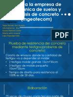 Visita a La Empresa de Mecánica de Suelos y ENSAYOS DE CONCRETO